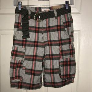 Route 66 plaid shorts